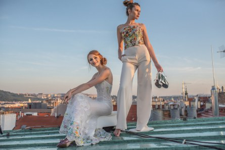 Models on the rooftop
